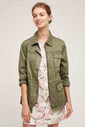 Anthropologie Geneva Anorak Moss
