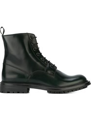 Church's Lace Up Combat Boots Green