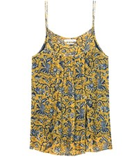 Etoile Isabel Marant Bronson Printed Silk Camisole Yellow