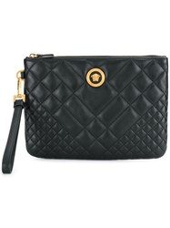 Versace Quilted Medusa Clutch Black
