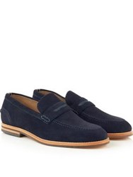 Hudson Romney Suede Loafers Navy