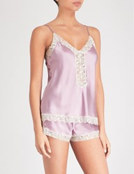 Nk Imode Urban Silk Satin And Lace Camisole Retro Mauve