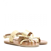 Ancient Greek Sandals Alethea Leather Sandals Matte Platinum