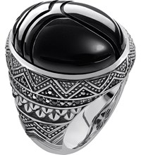 Thomas Sabo Rebel At Heart Sterling Silver And Onyx Scarab Beetle Ring