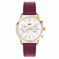 Henry London Unisex 39Mm Holborn Chronograph Watch Red Gold
