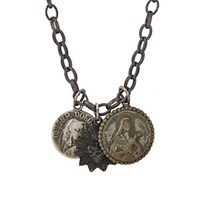 Miracle Icons Vintage Icon Necklace Silver