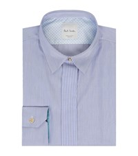 Paul Smith Striped Placket Shirt Blue
