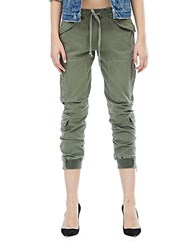 Hudson Jeans Solid Cropped Pants Infantry