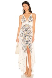 Free People Paradise Printed Maxi Dress White