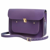 N'damus London Plum 13 Inches Pocket Satchel Pink Purple