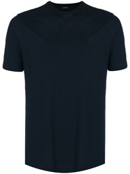 Zanone Fitted Classic T Shirt Blue