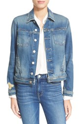 L'agence Women's Slim Fit Denim Jacket