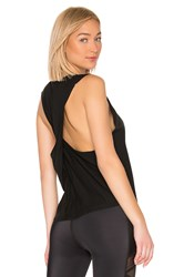 Beyond Yoga Round The Twist Tank Black