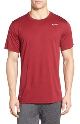 Nike Men's 'Legend 2.0' Dri Fit Training T Shirt Team Red Black Matte Silver