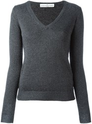 Golden Goose Deluxe Brand V Neck Jumper Grey