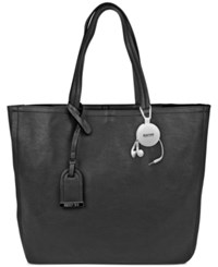Kenneth Cole Reaction Clean Slate Tote With Retractable Earphones Black