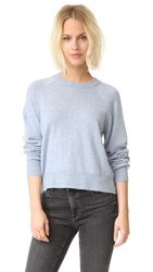 Alexander Wang Birdseye Crew Crop Sweater Chambray