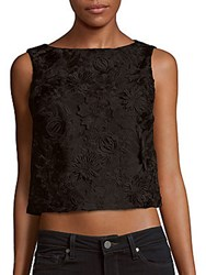 Alice Olivia Amal Sleeveless Embroidered Top Black