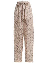 Zimmermann Heathers Floral Print Cotton Trousers White Print