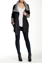Luma Wool Blend Sweater Coat Black
