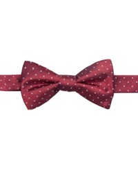 Ryan Seacrest Distinction Fairfax Pin Dot To Tie Bow Tie Only At Macy's Red
