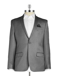William Rast Textured Singe Button Blazer Grey