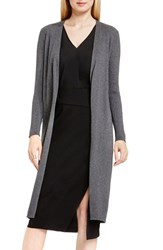 Vince Camuto Women's Open Front Ribbed Cotton Blend Maxi Cardigan