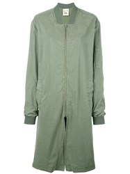 Semicouture Long Bomber Jacket Green
