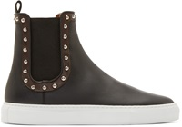 Givenchy Black Studded Slip On High Top Sneakers