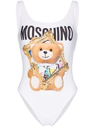 Moschino Picture Frame Teddy Bear Print Swimsuit 60