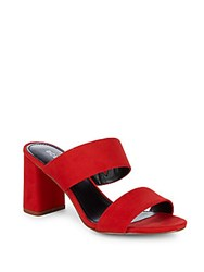 Bcbgeneration Bianca Dream Microsuede Mules Scarlet
