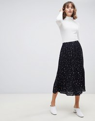 Selected Femme Pleated Printed Midi Skirt Multi