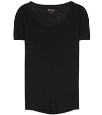 81 Hours Perry Linen T Shirt Black