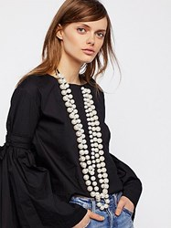 Free People Selene Statement Pearl Necklace By