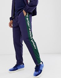 Polo Ralph Lauren Sport Capsule Taped Logo Shell Joggers In Navy