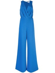 Likely Plunge Neck Jumpsuit Blue