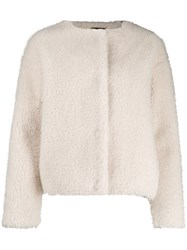 Paul Smith Ps Faux Fur Collarless Jacket 60