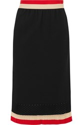 Sonia Rykiel Knitted Midi Skirt Black