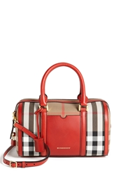 Burberry 'Medium Alchester' Crossbody Satchel Military Red