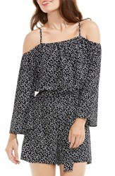 Vince Camuto Women's Dotted Harmony Cold Shoulder Romper