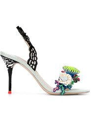 Sophia Webster 'Lilico Underwater' Slingback Sandals Black