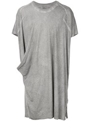 Lost And Found Ria Dunn Draped T Shirt Cotton Grey