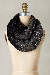 Anthropologie Faux Fur Infinity Scarf Black