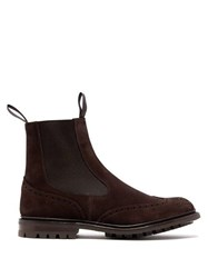 Tricker's Henry Suede Chelsea Boots Dark Brown
