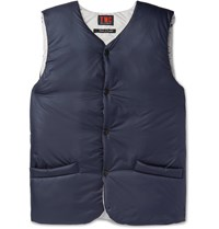 The Workers Club Padded Shell Gilet Blue