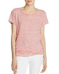 Current Elliott The Crewneck Stripe Tee Red Anchor Stripe