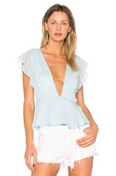 Lovers Friends Butterfly Top Baby Blue