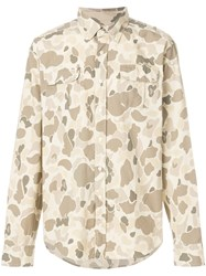 Gant By Michael Bastian Camouflage Print Shirt Nude And Neutrals