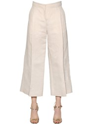 Max Mara 'S Cropped Cotton And Linen Pants