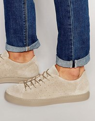 Selected Homme Dylan Suede Trainers Tan